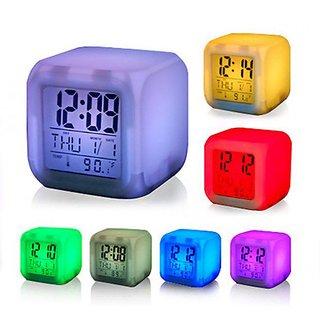 2.7 LCD Digital Clock + Alarm + Calendar + Thermometer - Free ... LCD Digital Clock + Alarm + Calendar (Pack of 1)