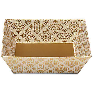 Tatva Gift Packing Trays/Hamper Baskets for Gift/Small White 10 pcs. Base Size 14X14X5.5 cm Top Size 18.5X18.5X5.5cm