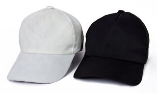 Black and White Casual Regular Caps (Set of 2)