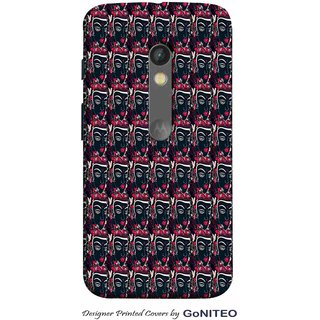 Printed Mobile Phone Back Cover Case for Moto X Play by GoNITEO || Mask || Art || Texture ||