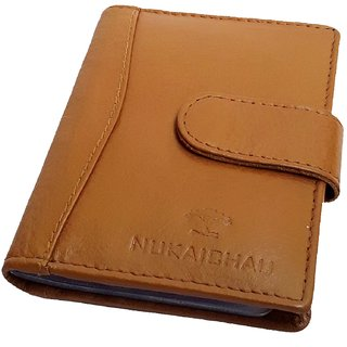 NUKAICHAU Tan Genuine Leather Wallet forMens