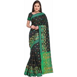 Bhuwal Fashion Maroon Cotton Blend Traditional Saree-BF5108
