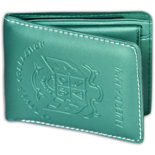 Unique Men's Green wallet (Mini-01) (Synthetic leather/Rexine)
