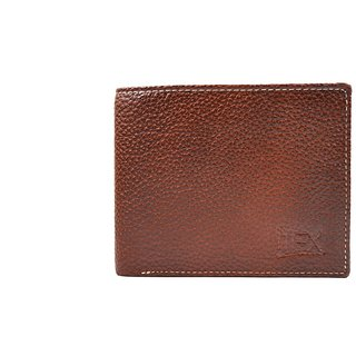 Imex Mens Golden Brown Two- tone Genuine Leather Wallet