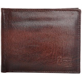 Fashno Mens Genuine Leather Brown Wallet (FBR007)