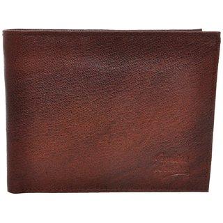 Fashno Mens Genuine Leather Brown Wallet (FBR001)
