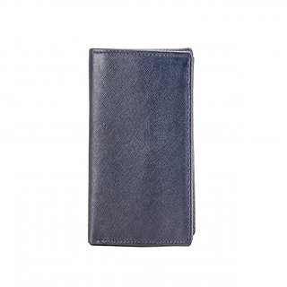 Deeya dark blue genuine leather gents wallet