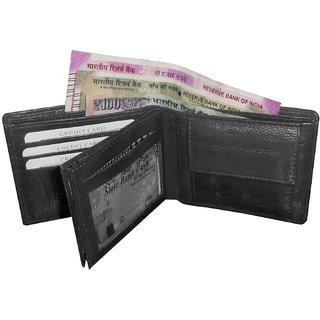 ATORAKUSHON MENS GENTS PURE LEATHER WALLET PURSE MONEY BAG CREDIT CARD HOLDER BUSINESS CARDHOLDER(7 Card Slots)