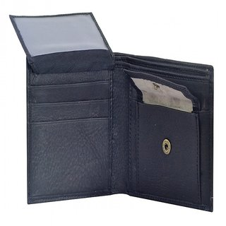 PYFashion Black Mans Wallet  With Pure leather