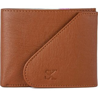 SWING Boys Tan Artificial Leather Wallet  (6 Card Slots) (Synthetic leather/Rexine)