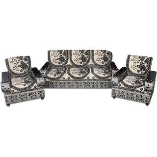 Premium Furnishing Pure Velvet 5 Seater sofa Cover In Black Colour(pfscssc017)