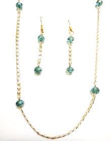 Sea Green  Gold Chain set