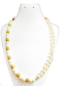 Pearl  Gold beaded necklace