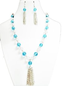 Handmade Blue  White crystal set