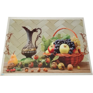Valtellina Digital Printed PVC Dining table 6 Placemats