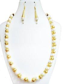 Pearl  Gold Jewellery Set