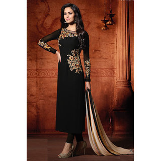 493bea5311b Buy W Ethnic Women's Beutiful Designer Georgette Traditional Embroidered Party  Wear Dress Online - Get 58% Off