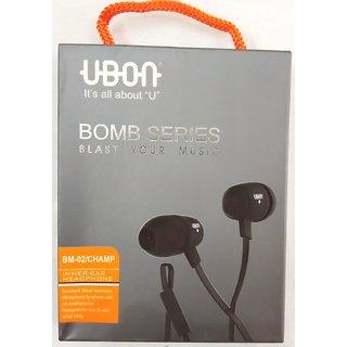 Ubon Bomb Series Powerful Audio Bass Earphone / Headphone with Mic 3.5 MM Jack