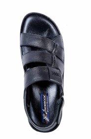 Shoebook Men's Stylish Black Casual Sandal Black Sandal - 139238635