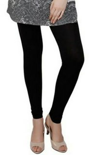 Women's cotton leggings black