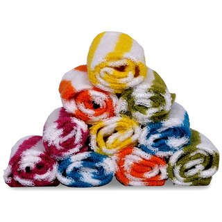 Terry Cotton Face Towels - Pack of 6