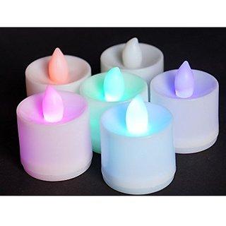 Trendz LED Battery powered Flameless smokeless Candles Faux Tea Light Candles Led Diya
