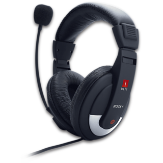 iBall Rocky Over-Ear Headphones with Mic for Mobile Tablet Computer