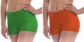 The Blazze Women's Seamless Spandex Boyshort Underskirt Pant Short Leggings  Pack Of 2