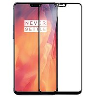 OnePlus 6 Black 5D  Unbreakable Tempered Glass Standard Quality