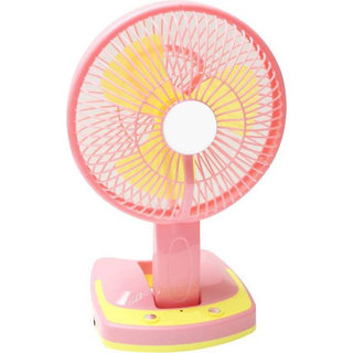 Style Maniac Rechargeable Multipurpose Fan With Emergency Light (Multi Color) 3 Blade Table Fan