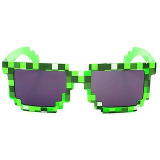Fashion Sunglass Kids play action Game Toys Minecrafter Square Glasses - Green