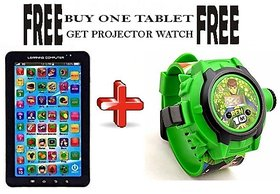 Buy P1000 Educational Toy Tablet, Get Kid's Cartoon Projector Watch Free