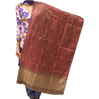 Varun Cloth House Womens Woolen Self Embellished Kashmiri Shawl