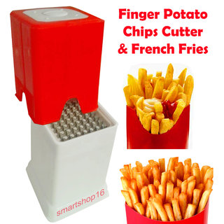 Evershine Vegetable Plastic Finger Chips Cutter For French Fries (No. of Pieces 1)