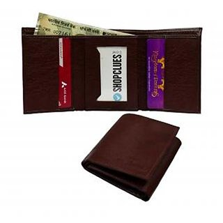 Tri Fold Leather Wallet for Men and women