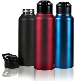 GPSales - Sigma BPA Free Stainless Steel Sports Sipper/Modern Metallic Fliptop Leak  Spill Proof Drinking Water Bottle for Outdoor Travel, Yoga, Hiking, Cycling  Camping (750 ml)