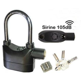 Antitheft Motion Sensor Security Padlock Siren Alarm Lock For Motor, Bikes, Home, Office Door etc. voice - ALARM LOCK
