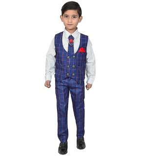 Buy Premium Suit For Kids Package Contain Waist Coat Pant Shirt