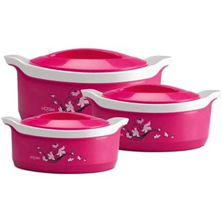 3 pieces Casserole gift set marvel junior .Pink.Best quality insulation and attractive design.