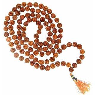 Rebuy 5 Mukhi Rudraksha Mala 3 mm 108+1 Beads