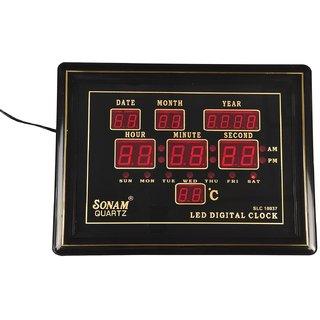 Sonam SLC 10037 Red Digital Wall Clock