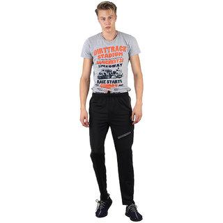 Abloom Black Lycra Trackpants Dryfit