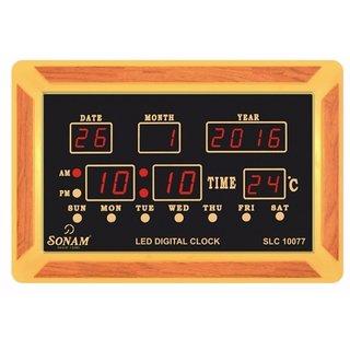 Sonam SLC 10077 Red Digital Wall Clock