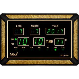 Sonam SLC 10077 Green Digital Wall Clock