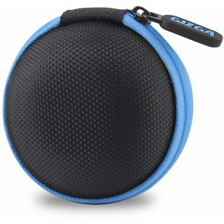 Gizga Essentials G11 Earphone Carrying Case for Earphones, Headset, Pen Drives, SD Cards (Blue)