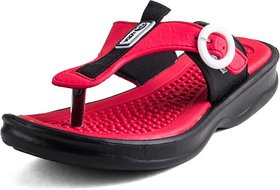 ADDA COMFORTABLE BLACK /RED COLOR FLIPFLOPS FOR WOMEN