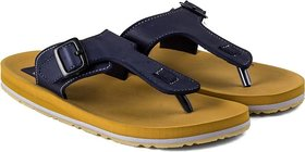 ADDA COMFORTABLE BEIGE/ NAVY  COLOR FLIPFLOPS FOR MEN