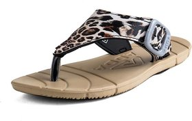 Adda Comfortable Beige Color Flipflops For Women