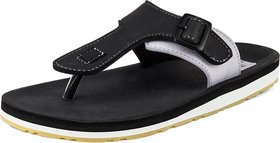 ADDA COMFORTABLE BLACK /GREY COLOR FLIPFLOPS FOR MEN