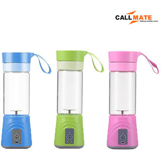 Callmate 380ml Mini portable Electric bottle juicer and mixer - Assorted Color